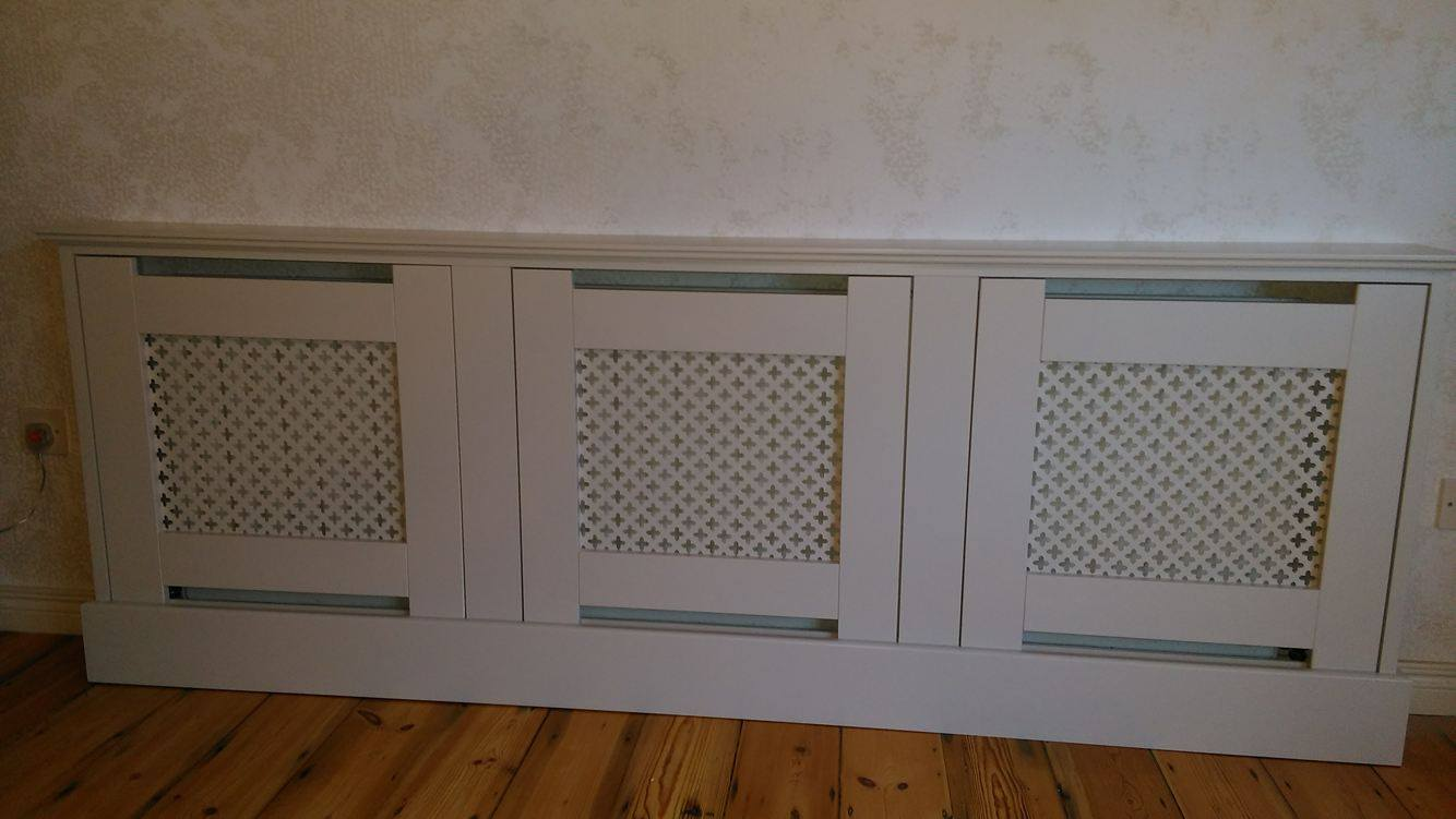 Cream radiator cover