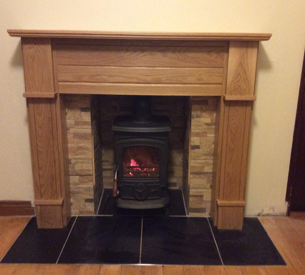 Fireplace oak