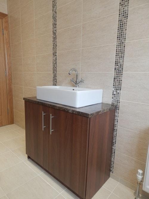 Walnut bathroom unit